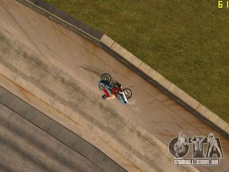 Equitação em paredes e tectos v 2.0. para GTA San Andreas por diante tela