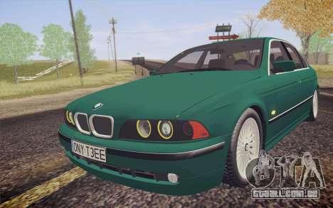 BMW M5 E39 528i Greenoxford para GTA San Andreas vista traseira