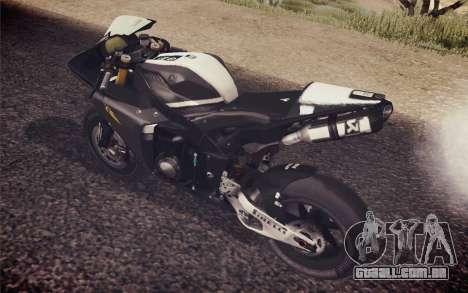 Yamaha YZF R1 2012 Black para GTA San Andreas traseira esquerda vista