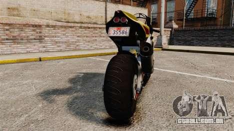 Aprilia RSV4 para GTA 4 vista de volta