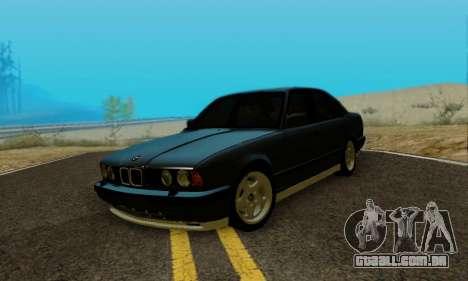 BMW M5 E34 1992 para GTA San Andreas vista direita