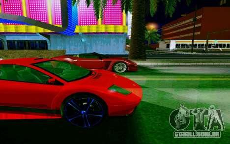 GTA V Pegassi Infernus para GTA San Andreas vista traseira