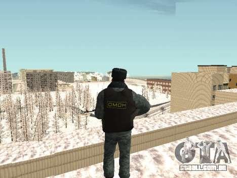 O OMON motim de policiais no inverno uniforme para GTA San Andreas terceira tela