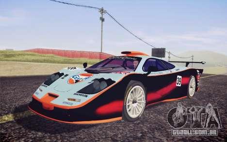McLaren F1 GTR Longtail 22R para vista lateral GTA San Andreas