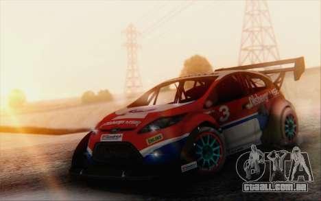 Ford Fiesta Omse HillClimb para GTA San Andreas vista traseira