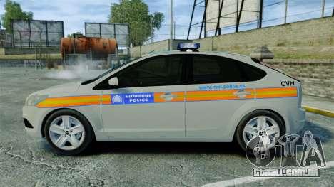 Ford Focus Metropolitan Police [ELS] para GTA 4 esquerda vista