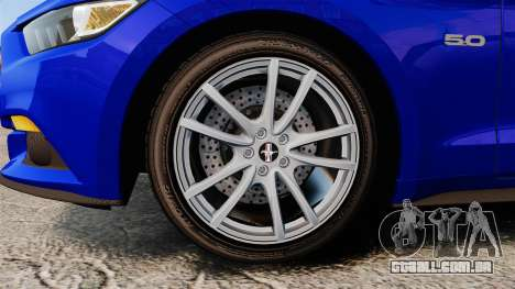 Ford Mustang GT 2015 Stock para GTA 4 vista de volta