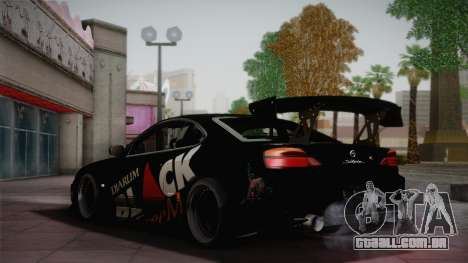 Nissan S15 Street Edition Djarum Black para GTA San Andreas vista traseira