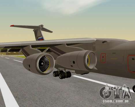 Il-76md-90 (IL-476) para GTA San Andreas vista traseira