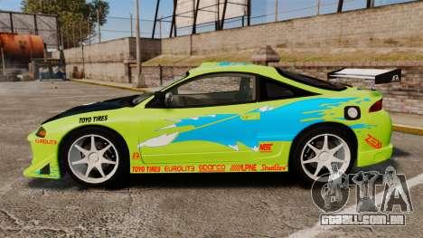 Mitsubishi Ecplise GS 1995 para GTA 4 esquerda vista