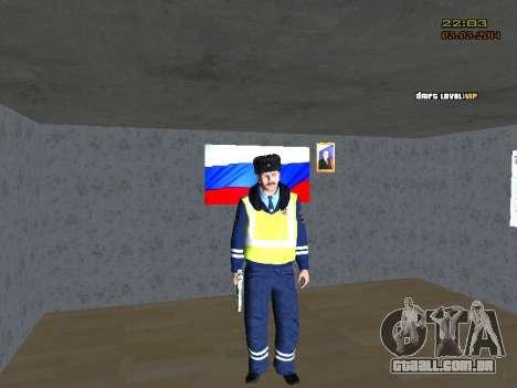 Pak DPS em um formato de inverno para GTA San Andreas segunda tela