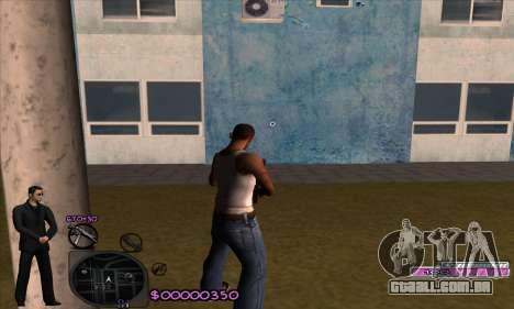 C-HUD Woozie para GTA San Andreas segunda tela