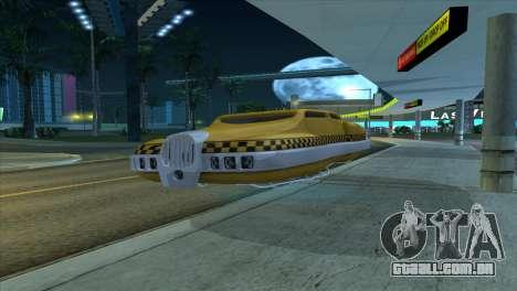 Taxi 5 Element para GTA San Andreas traseira esquerda vista