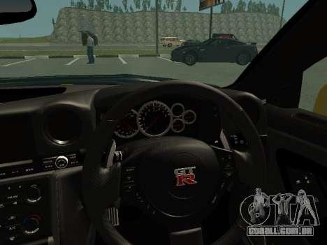 Nissan GT-R AMS Alpha 12 para GTA San Andreas vista traseira