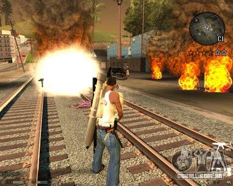 C-HUD CS:GO para GTA San Andreas segunda tela