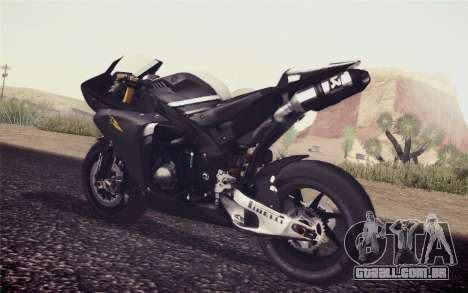 Yamaha YZF R1 2012 Black para GTA San Andreas esquerda vista
