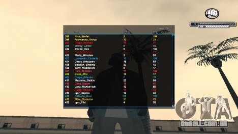 C-HUD v1.0 para GTA San Andreas terceira tela