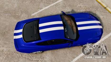 Ford Mustang GT 2015 Stock para GTA 4 vista direita