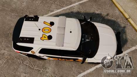 Ford Explorer 2013 LCPD [ELS] v1.5X para GTA 4 vista direita