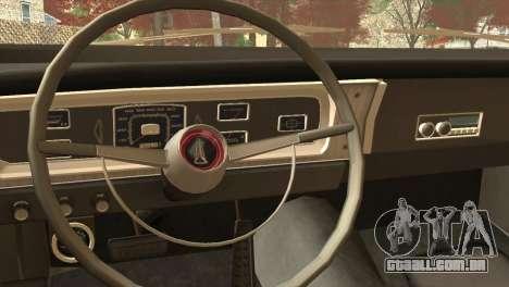 Plymouth Belvedere 2-door Sedan 1965 para GTA San Andreas vista direita