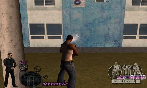 C-HUD Woozie para GTA San Andreas por diante tela