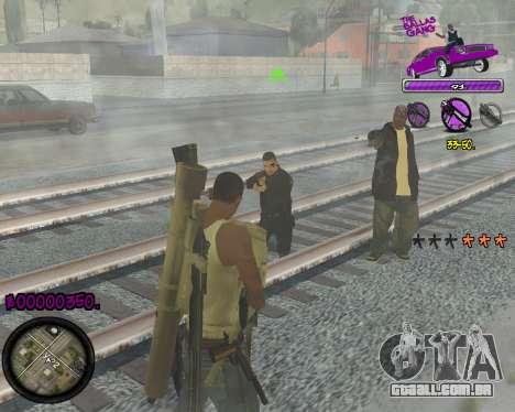C-HUD Ballas Gang para GTA San Andreas terceira tela
