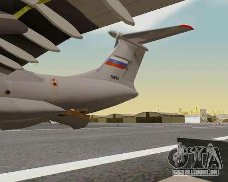 Il-76md-90 (IL-476) para GTA San Andreas vista superior
