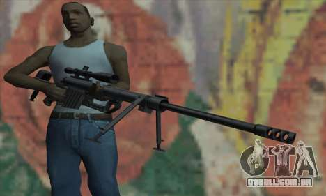 Black M200 Intervention para GTA San Andreas terceira tela
