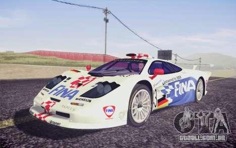 McLaren F1 GTR Longtail 22R para GTA San Andreas vista traseira