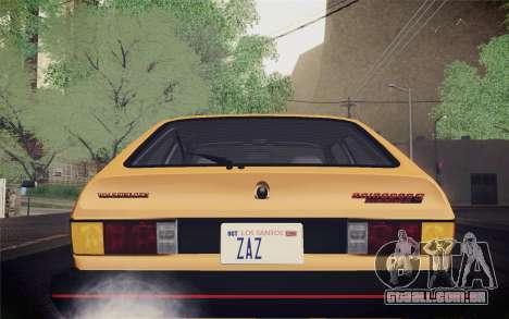 Volkswagen Scirocco S (Typ 53) 1981 IVF para GTA San Andreas vista superior
