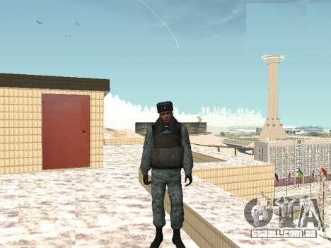 O OMON motim de policiais no inverno uniforme para GTA San Andreas segunda tela