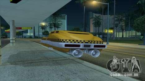 Taxi 5 Element para GTA San Andreas vista traseira