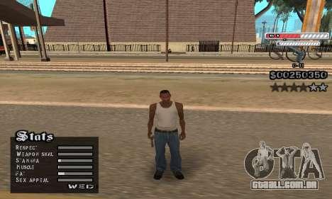 C-HUD v2 para GTA San Andreas por diante tela