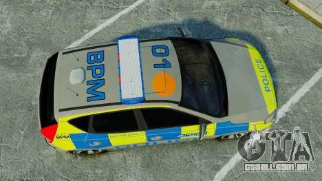 Hyundai i30 Metropolitan Police [ELS] para GTA 4 vista direita