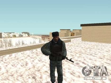 O OMON motim de policiais no inverno uniforme para GTA San Andreas