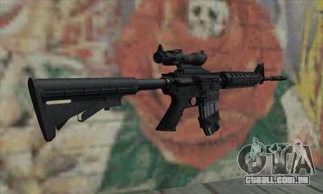 M4 RIS Acog Sight para GTA San Andreas segunda tela