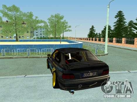 BMW M3 E36 Compact Darius Kepezinskas para GTA San Andreas vista direita