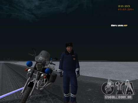 Pak DPS em um formato de inverno para GTA San Andreas nono tela