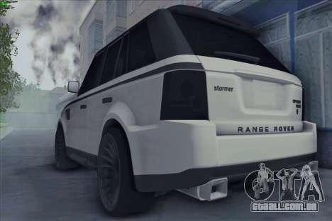 Land Rover Range Rover Sport para GTA San Andreas esquerda vista