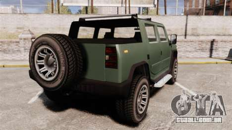 Patriot pickup para GTA 4 traseira esquerda vista