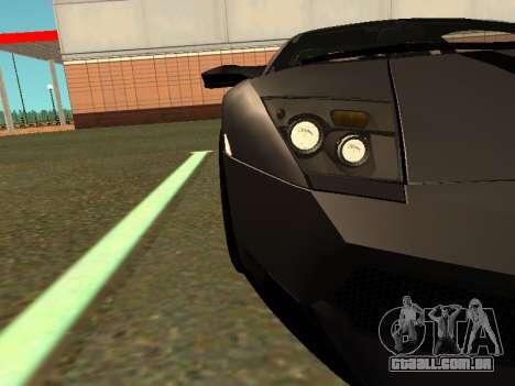 Lamborghini Murcielago LP670-4 SV Team Ravenwest para GTA San Andreas traseira esquerda vista