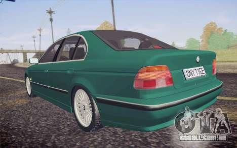 BMW M5 E39 528i Greenoxford para GTA San Andreas vista interior