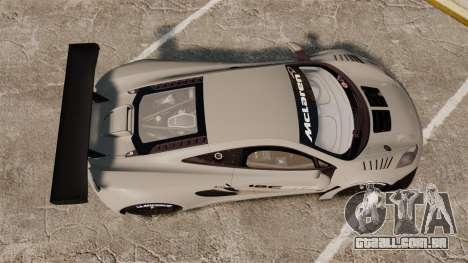 McLaren MP4-12C GT3 Blank para GTA 4 vista direita