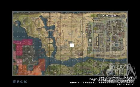 Rapid opening map para GTA San Andreas segunda tela