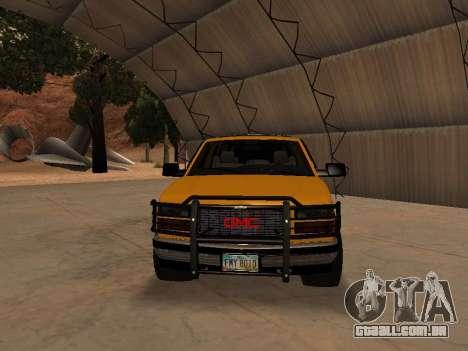 GMC Yukon para GTA San Andreas esquerda vista