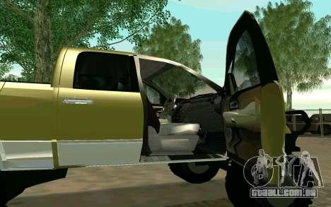 Dodge Ram 4x4 para GTA San Andreas traseira esquerda vista