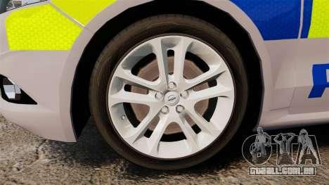 Ford Mondeo 2014 Metropolitan Police [ELS] para GTA 4 vista de volta