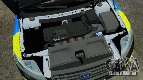 Ford Mondeo Estate Police Dog Unit [ELS] para GTA 4 vista interior