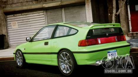 Honda CR-X para GTA 4 esquerda vista