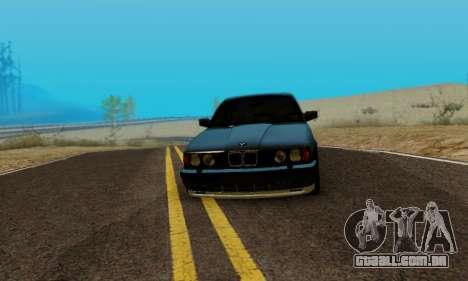 BMW M5 E34 1992 para GTA San Andreas traseira esquerda vista